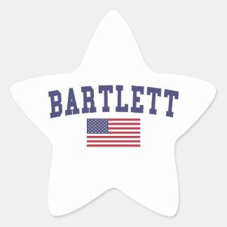 USA Flag Bartlett TN Star Sticker