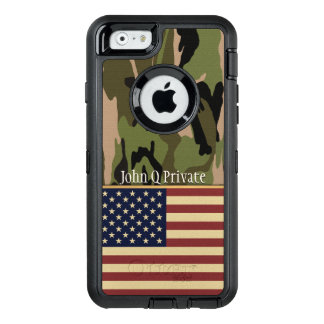 USA Flag Camo Name Template OtterBox iPhone 6/6s Case