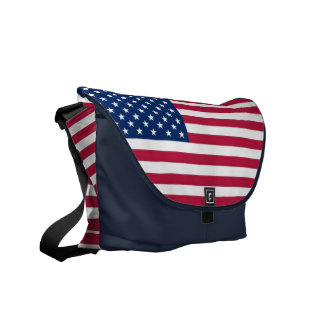 USA Flag Rickshaw Messenger Bag