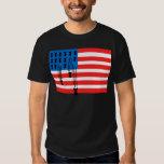 USA Flag with Falling Bombs Tee Shirts