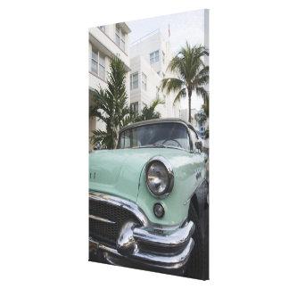 USA, Florida, Miami Beach: South Beach, 1956 3 Stretched Canvas Print