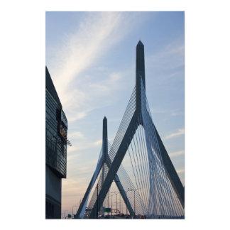 USA, Massachusetts, Boston. The Zakim Bridge. 2 Art Photo