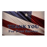 USA Military Veterans Patriotic Flag Thank You Pack Of Standard Business Cards