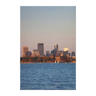 USA, Minnesota, Minneapolis, City Skyline Stretched Canvas Print
