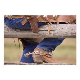 USA, Oregon, Seneca, Ponderosa Ranch. Cowboy Photo