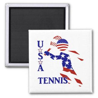 USA Tennis Player - Men's Tennis Square Magnet