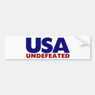 USA UNDEFEATED BUMPER STICKER