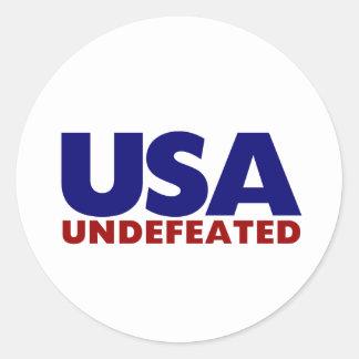 USA UNDEFEATED ROUND STICKER