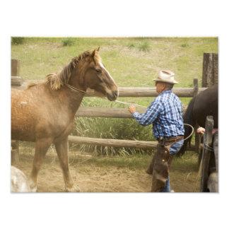 USA, Washington, Malaga, Unmounted cowboy Art Photo