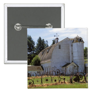 USA, Washington, Pullman, Barn 15 Cm Square Badge