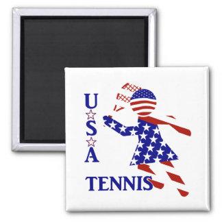 USA Women's Tennis Square Magnet