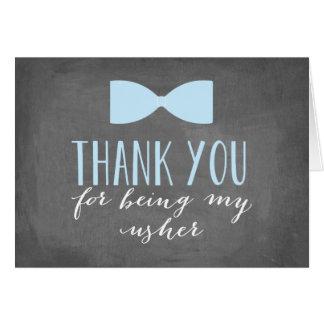 Usher Thank You | Groomsman Note Card
