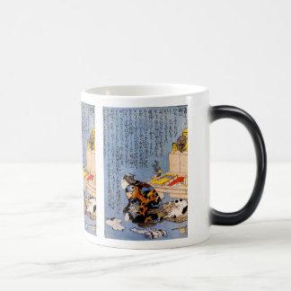 Utagawa country 芳, self-portrait morphing mug