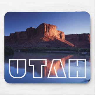 Utah, A mesa reflecting in the Colorado River 2 Mouse Pad