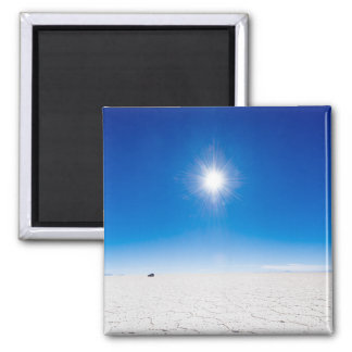 Uyuni Salt Flats Square Magnet
