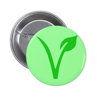 V is for Vegan 6 Cm Round Badge
