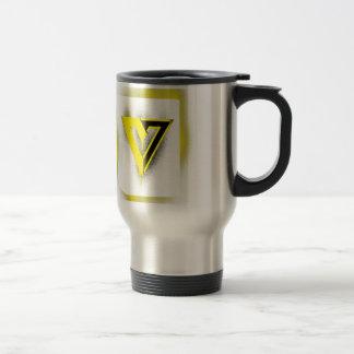 V is for Voluntary Stainless Steel Travel Mug
