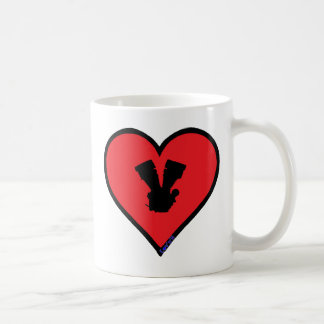 V twin basic white mug