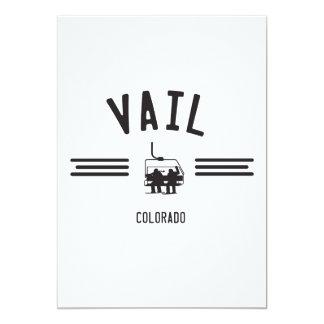 Vail Colorado 13 Cm X 18 Cm Invitation Card