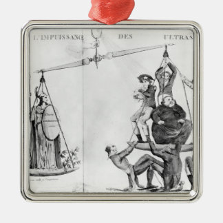 Vain efforts of the Ultras, 1819 Silver-Colored Square Decoration