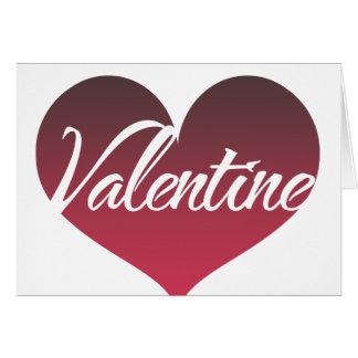 Valentine Heart Note Card