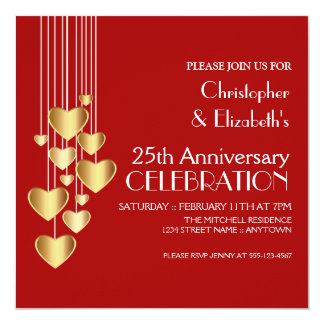Valentines Day Anniversary Party Invitations