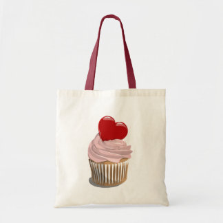 Valentine's day cupcake tote bag