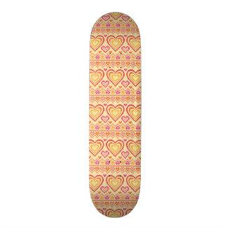 Valentine's Day Knitted Pattern 21.6 Cm Skateboard Deck