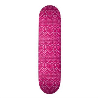 Valentine's Day Knitted Pattern 2 Skateboard Decks
