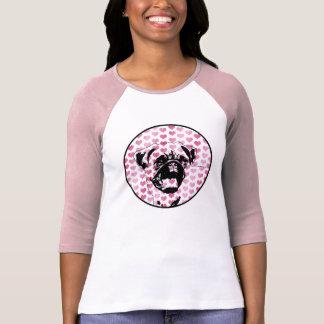 Valentines - Pug Silhouette T-shirt