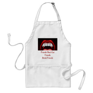Vampire Halloween Teeth Standard Apron