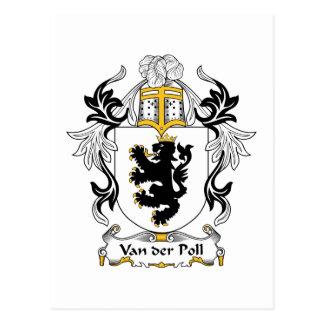 Van der Poll Family Crest Postcard