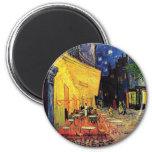 Van Gogh Cafe Terrace on Place du Forum, Fine Art 6 Cm Round Magnet