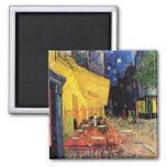 Van Gogh Cafe Terrace on Place du Forum, Fine Art Square Magnet