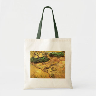 Van Gogh Field with Two Rabbits, Vintage Fine Art Budget Tote Bag