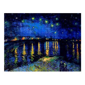 Van Gogh Starry Night Rhone (F474) Fine Art Postcard