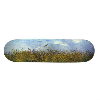 Van Gogh: Wheat Field with Poppies and Lark Skateboard Deck