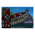 Vancouver First Nations Poster Totem Home Decor