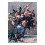 Vase of Roses Greeting Card