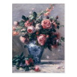 Vase of Roses Postcard