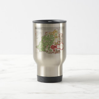 Vatican City Layout Diagram Map Stainless Steel Travel Mug