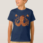 Vector Giant Squid Kid's Dark T-Shirt