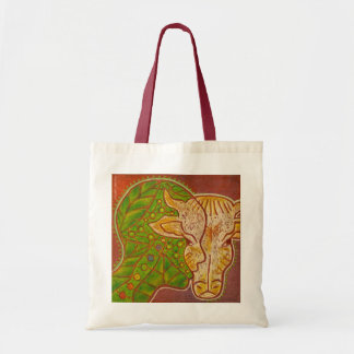 vegan connection cow budget tote bag