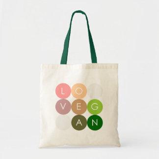 Vegan Dot Love Budget Tote Bag