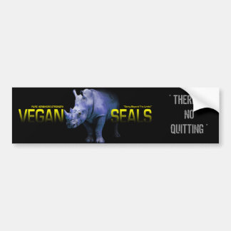 VEGAN SEALS LOGO, THERE IS NO QUITTING BUMPER STICKER