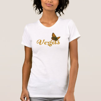 Vegas Butterfly Ladies Fitted Camisole Tee Shirts