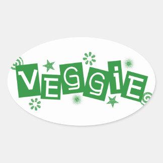 Veggie, For Vegetarians and Vegans Stickers