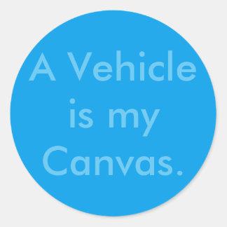 Vehicle Repair Car Painter Round Sticker