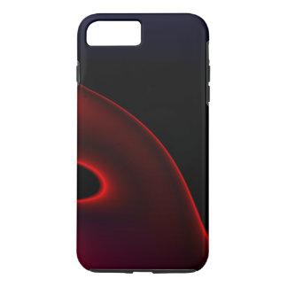 Velvet Red Black Abstract iPhone 7 Plus Case