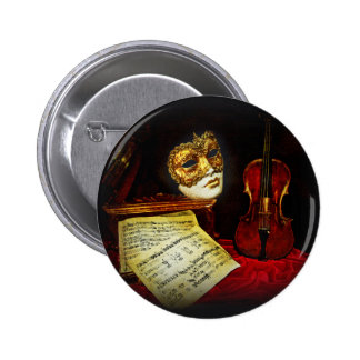 Venetian Masks collection - Musical night 6 Cm Round Badge